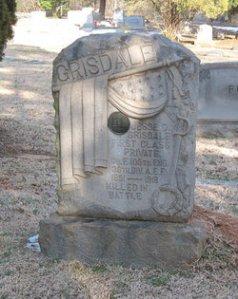 Jesse Grisdale's Grace in Oaklawn Cemetery, Charlotte